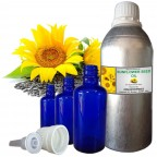 SUNFLOWER SEED OIL, Helianthus Annus, 100% Pure & Natural Carrier Oil